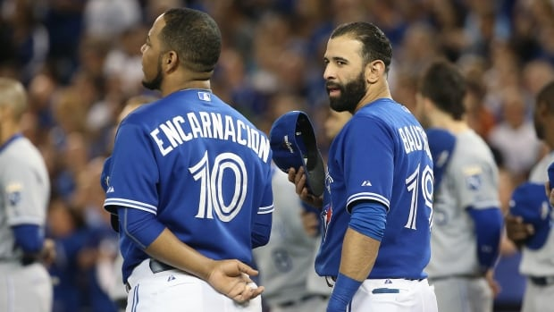 Edwin Encarnacion, left, and Jose Bautista, right, are at a contract crossroads with the Toronto Blue Jays.