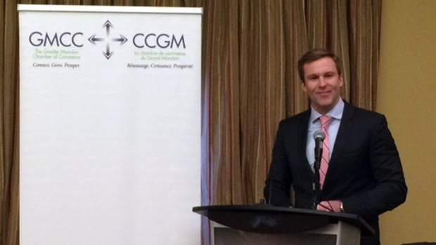 Premier Brian Gallant talked about the importance of immigration, education and small businesses during a luncheon address hosted by the Greater Moncton Chamber of Commerce on Monday.