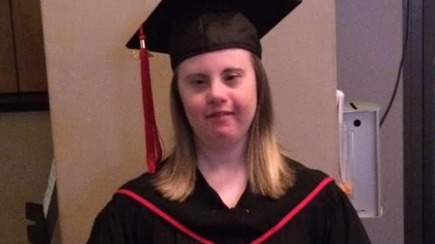 Caitlin Boland, on the day she graduated from Red River College.