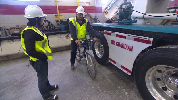 The cost of installing a truck side guard is between $1,500 and $4,000. The city has 100 vehicles that would need one.