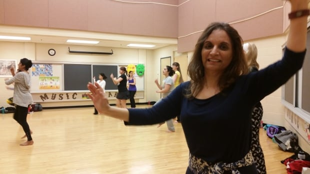 Neelu Sachdev leads the Arcola East Bhangra Community Dancers that meets weekly at the Arcola East Community Centre.