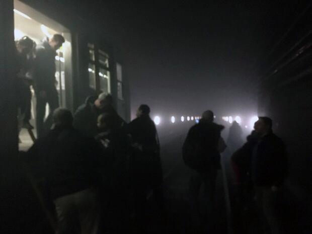 Belgium subway scene