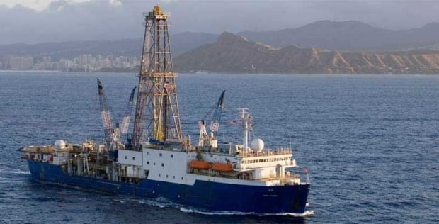 JOIDES research scientific drilling ship