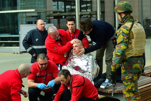 Belgium Maelbeek victim first aid