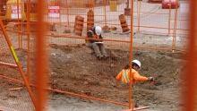 uptown Waterloo LRT construction corduroy road