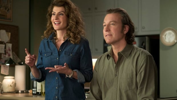 Nia Vardalos, left, and John Corbett in a scene from My Big Fat Greek Wedding 2. The film took in $18.1 million in box office sales in North America and another $8 million internationally on its opening weekend.