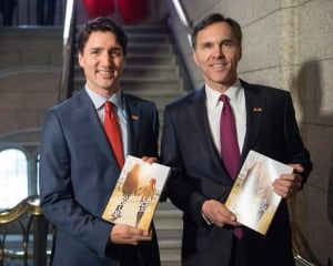 PM Trudeau and Finance Min Bill Morneau Fed budget 2016