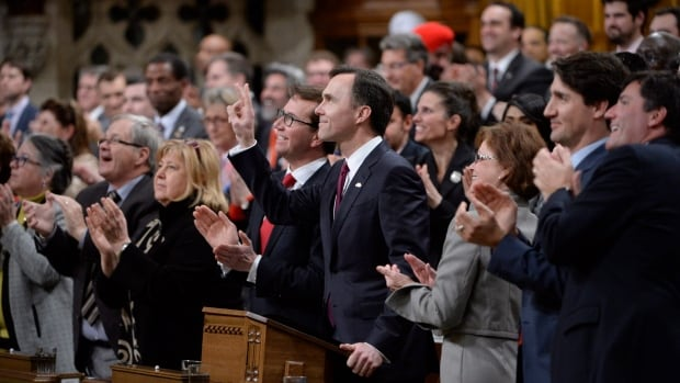 Minister of Finance Bill Morneau arrives to deliver the federal budget in the House of Commons on Parliament Hill in Ottawa on Tuesday, March 22, 2016.