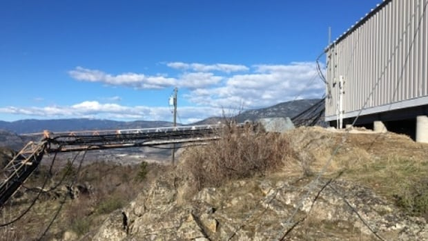 RCMP are investigating after the Telus cellphone tower on Fairview Mountain, west of Oliver, B.C., was knocked down on purpose last Thursday.