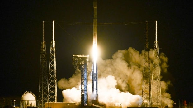 The Atlas V rocket lifts off from the Cape Canaveral Air Force Station in Florida, carrying the Cygnus supply module into orbit.