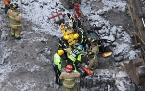 Ottawa rescue fire construction pit Preston Street March 23 2016