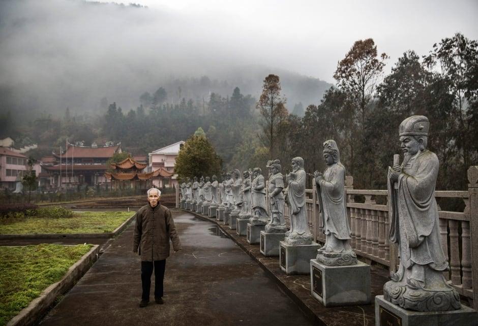 China elderly nursing home Buddhist temple Fujian province