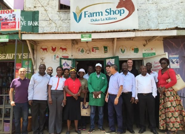 Kevin MacKague and Kenyan farmers and suppliers