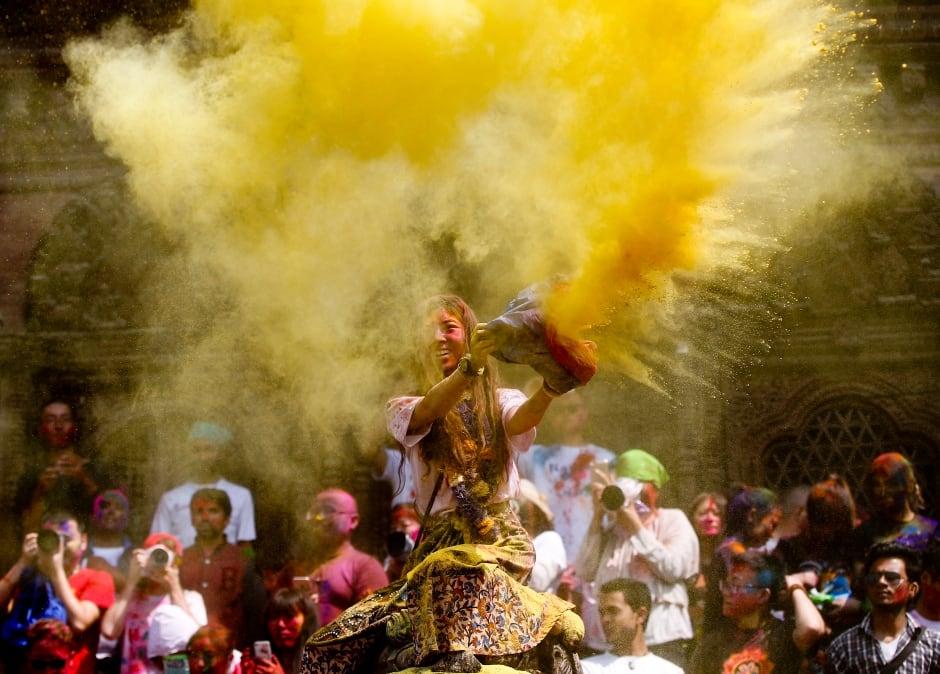 HOLI FESTIVAL 2016 March 22 Kathmandu Nepal