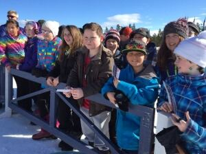 Haywood Ski Nationals spectators