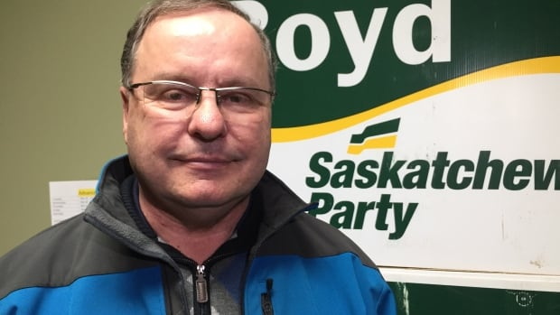 Bill Boyd during last year's election. He was first elected as MLA in 1991.