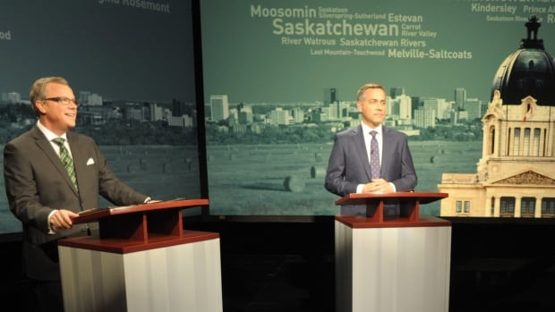 Saskatchewan Party Leader Brad Wall and NDP leader Cam Broten may not have moved many votes in last night's heated debate.