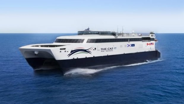 A look at what the new ferry will look like after it's rebranded The CAT. It's scheduled to start service June 15, 2016.