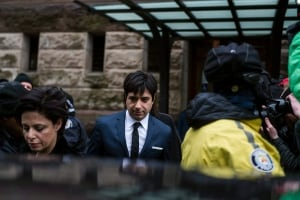 Ghomeshi Trial leaving court after acquittal March 24 2016