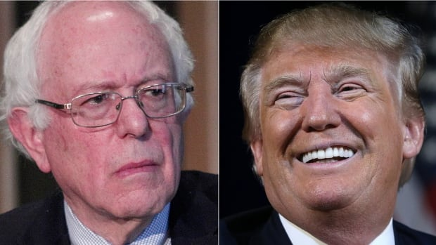 Vermont Senator Bernie Sanders, left, and Republican presidential candidate Donald Trump, right, have more in common than one might think at the outset.