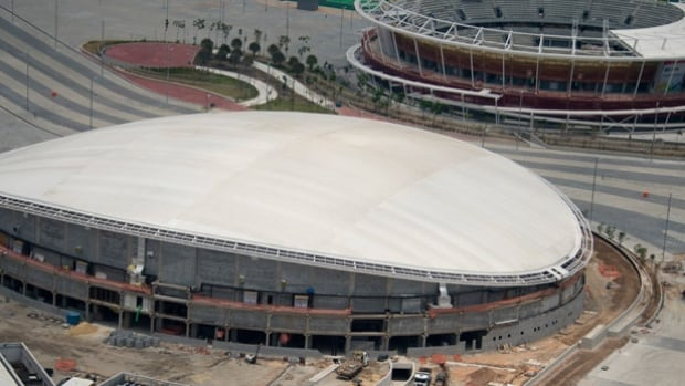 A test event for the Rio velodrome, scheduled for the end of April, has been cancelled because the wooden track hasn't been installed in the venue. Olympic organizers say it will be 'fully ready' by May 31.