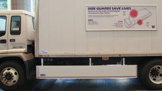 A recent city staff report rejected the installation of side guards on heavy-duty trucks because of the cost.  The guards are to prevent pedestrians and cyclists from injuries and fatalities.