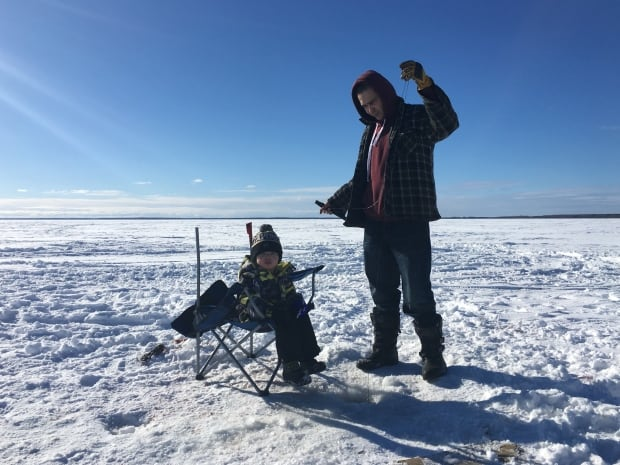 La Loche Donovan Fontaine ice fishing