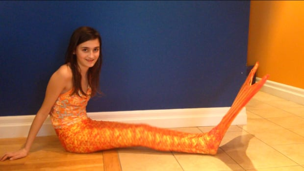 Nicole Lambert saved up for a year to buy herself a mermaid tail.