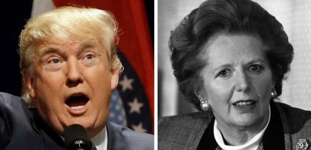Donald Trump and Margaret Thatcher
