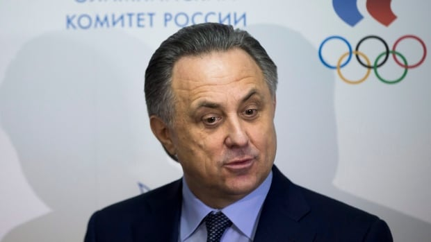 "Russian Sports Minister Vitaly Mutko, shown in this January 2016 file photo, is upset that positive doping tests are being leaked to the media ahead of ""B"" sample testing."