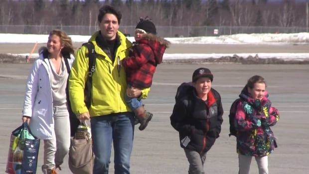 Prime Minister Justin Trudeau and family made a brief stop-over at Gander International Airport Friday while en route to Fogo Island.