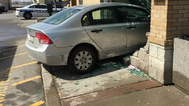 Police say a man in his 70s only sustained minor injuries after crashing into a building and no other people were hurt in the incident.