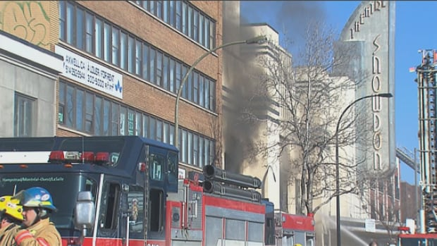The building is vacant, according to Montreal's fire department.