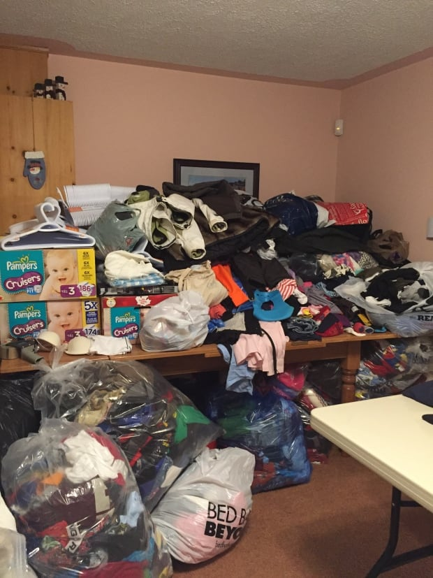 Roomful of donations