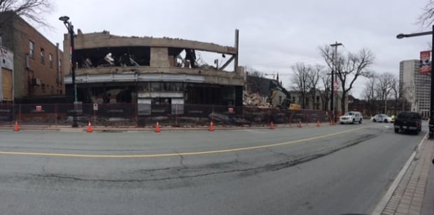 Spring Garden Road demolition