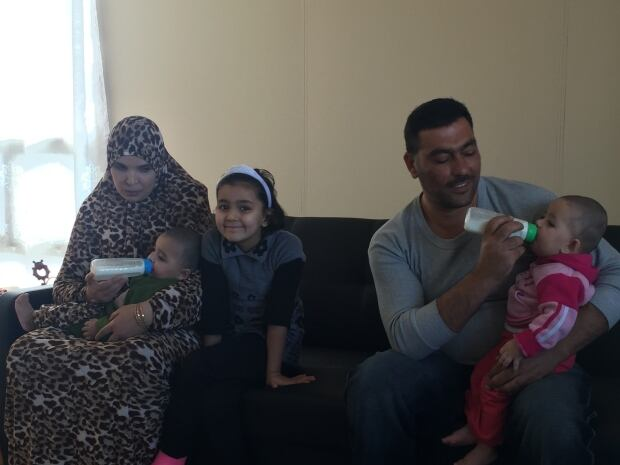 Syrian family with twins
