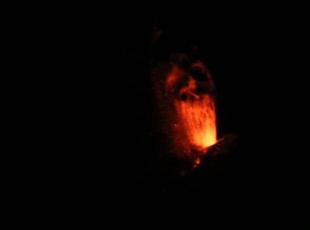 Pavlof volcano erupting