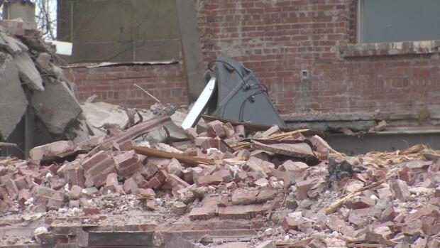 Spring Garden Road demolition excavator