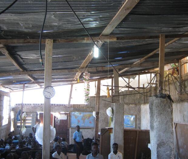 Makeshift roof