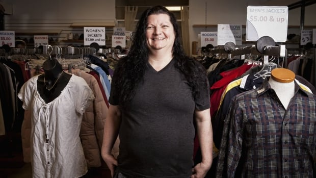 A volunteer stands amongst the offerings at the First United Thrift Store. As spring cleaning season gets underway, the store has created a set of donation guidelines in an effort to save money and volunteer time.