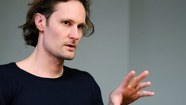 Soundcloud co-founder and chief technology officer Eric Wahlforss talks during an interview in Los Angeles on March 22.