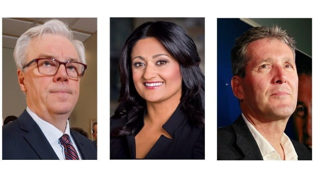 On April 19, Manitobans will decide whether NDP Leader Greg Selinger (left), Liberal Leader Rana Bokhari or Progressive Conservative Leader Brian Pallister (right) will be next to lead the province.