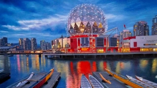 Warren Chiu's Dragon Boats at Science World oil painting was stolen in broad daylight from a Granville Street art gallery.