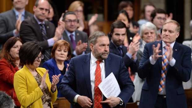 NDP Leader Tom Mulcair has seen his approval ratings among his own party's supporters drop since the 2015 federal election.