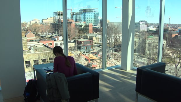 Opponents of a development planned for Spring Garden Road say the view from the Halifax Central Library's fifth floor will be ruined if the seven-storey structure is built.