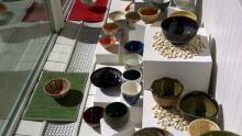 Empty Bowls on display at Farfelu