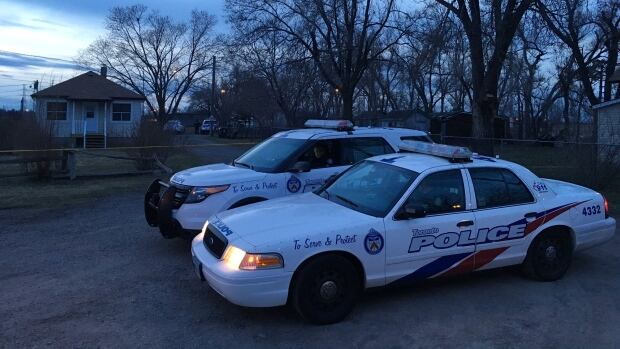 Police say a dog grabbed a child by the neck and inflicted multiple bites in an attack in Scarborough early Wednesday evening. An officer shot and killed the dog after it would not let go of the child.