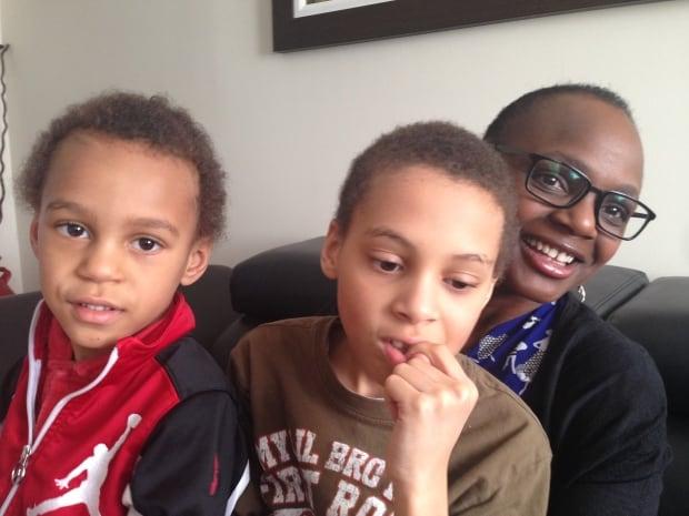 Sazini Nzula with sons Jayden and Ethan Koorengevel