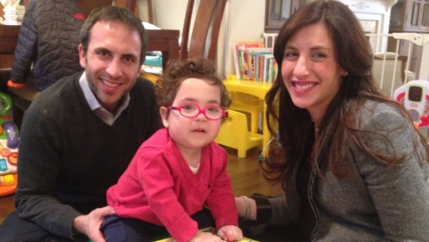 Avi, now 22 months old, was diagnosed with cerebral palsy one year ago. His parents Alana Geller and Aren Prupas say it was the most difficult time in their lives.
