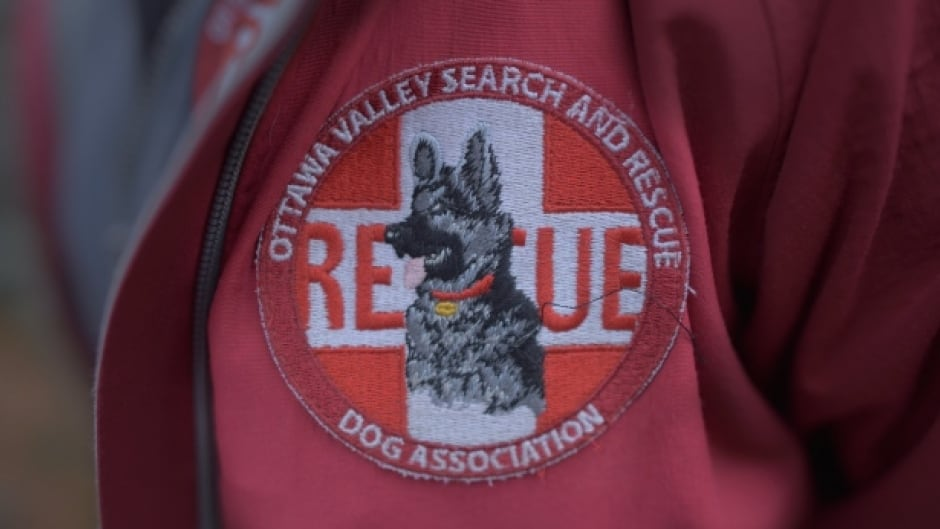 A patch for the Ottawa Valley Search and Rescue Dog Association